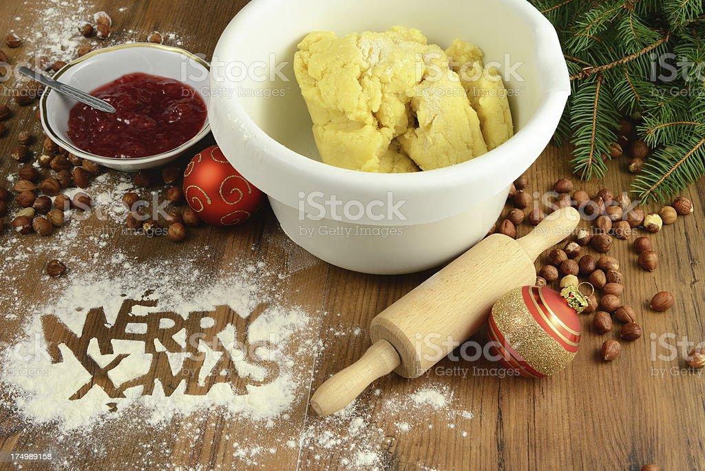 baking Christmas cookies royalty-free stock photo