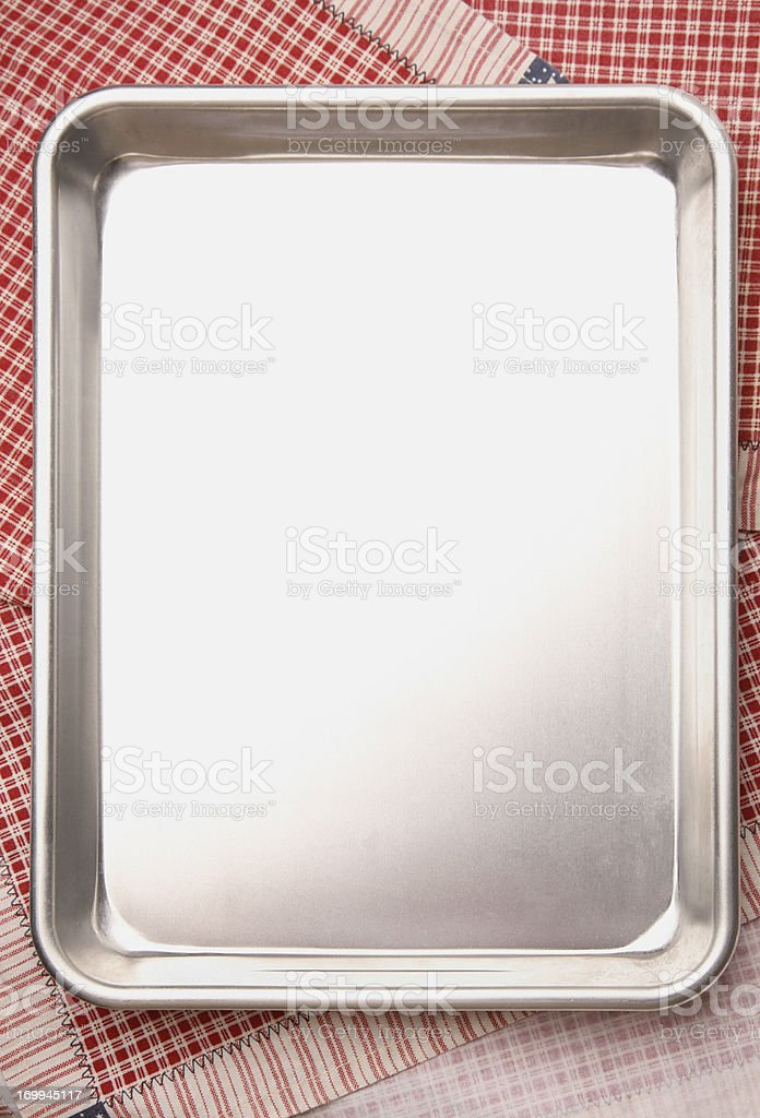 Baking / Cookie Sheet with copyspace stock photo