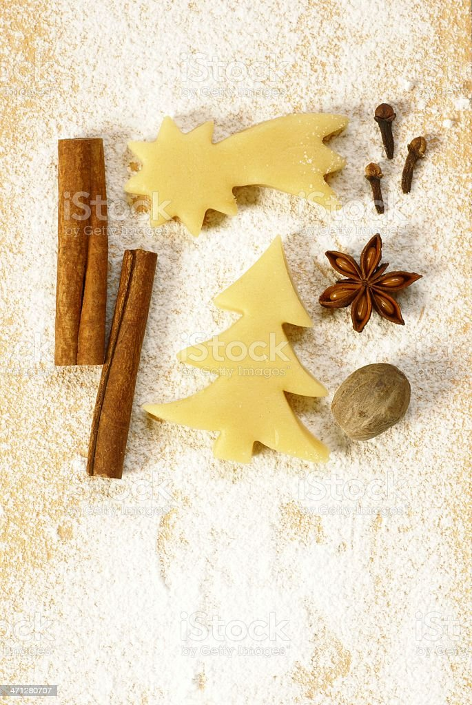 Baking cookies background royalty-free stock photo