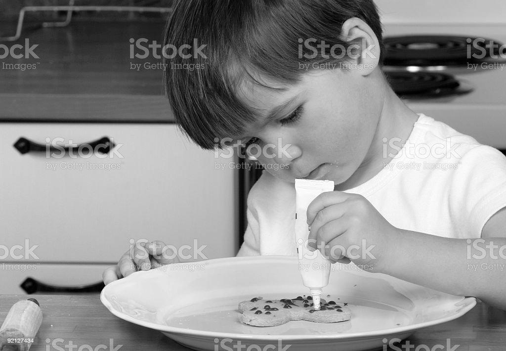 Baking cookies royalty-free stock photo