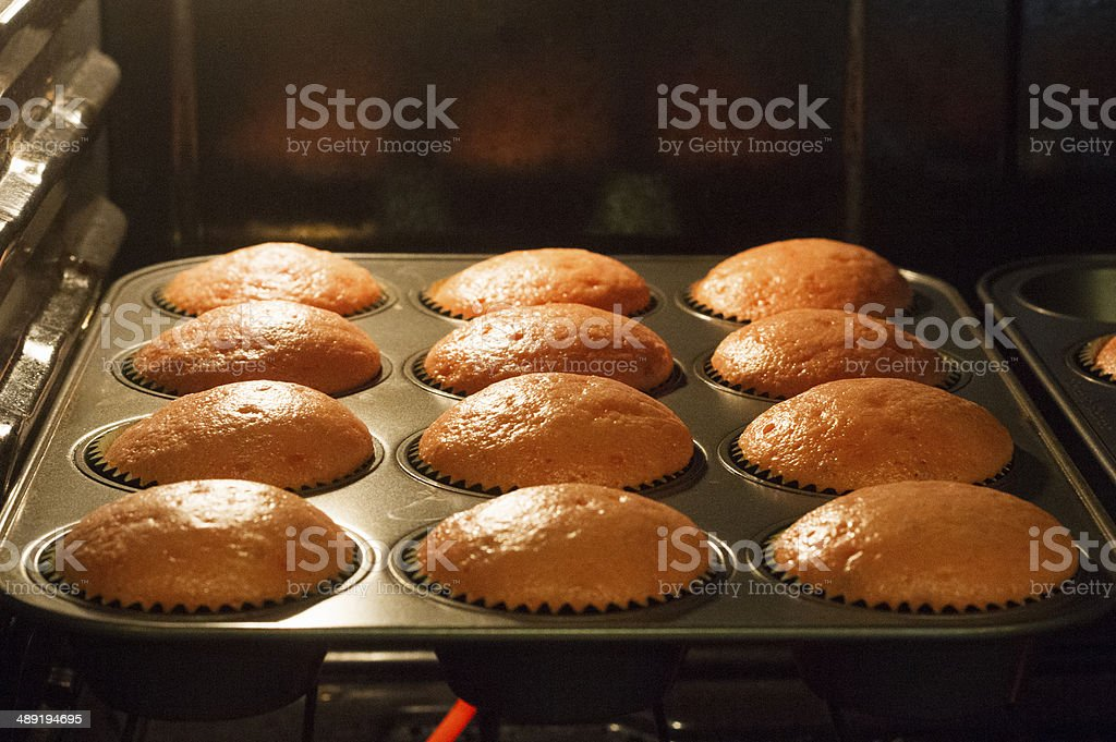 Baking Cupcakes stock photo