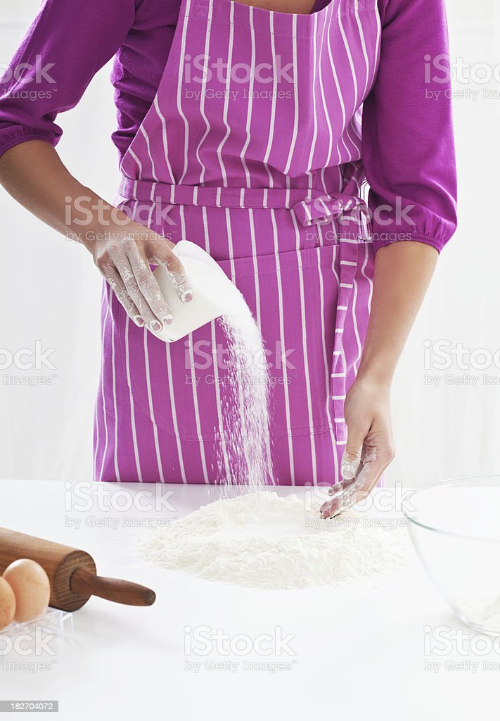 Baking dough royalty-free stock photo