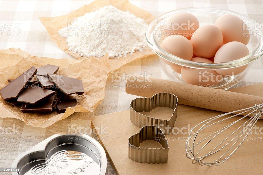 Baking equipment stock photo
