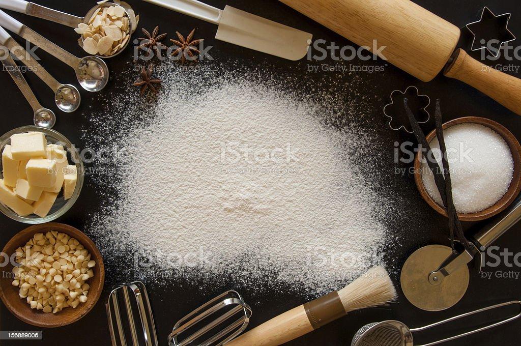 Baking frame stock photo