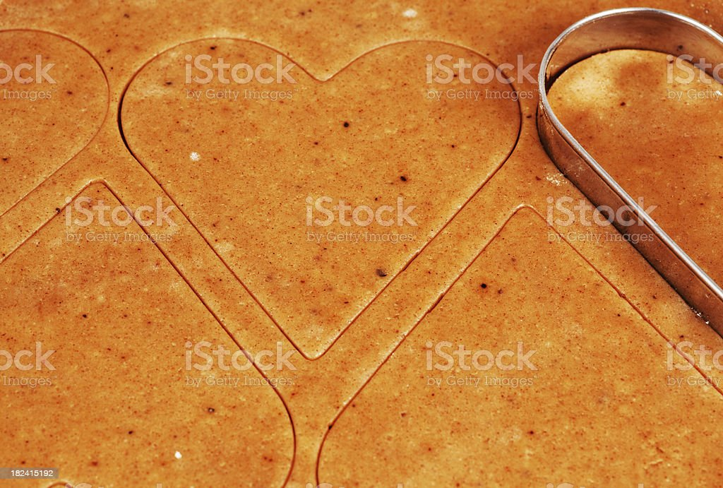 Baking ginger cookies royalty-free stock photo