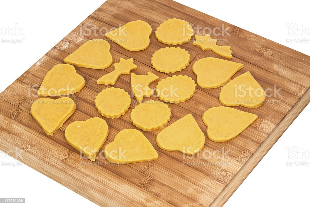 Baking home made cookies royalty-free stock photo