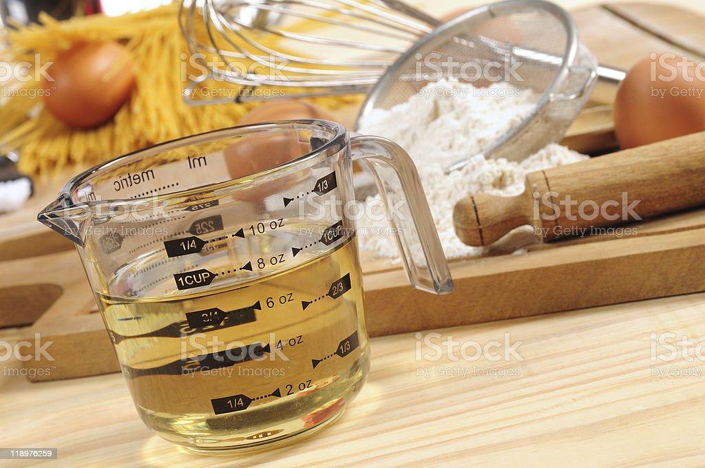 Baking ingredients. stock photo