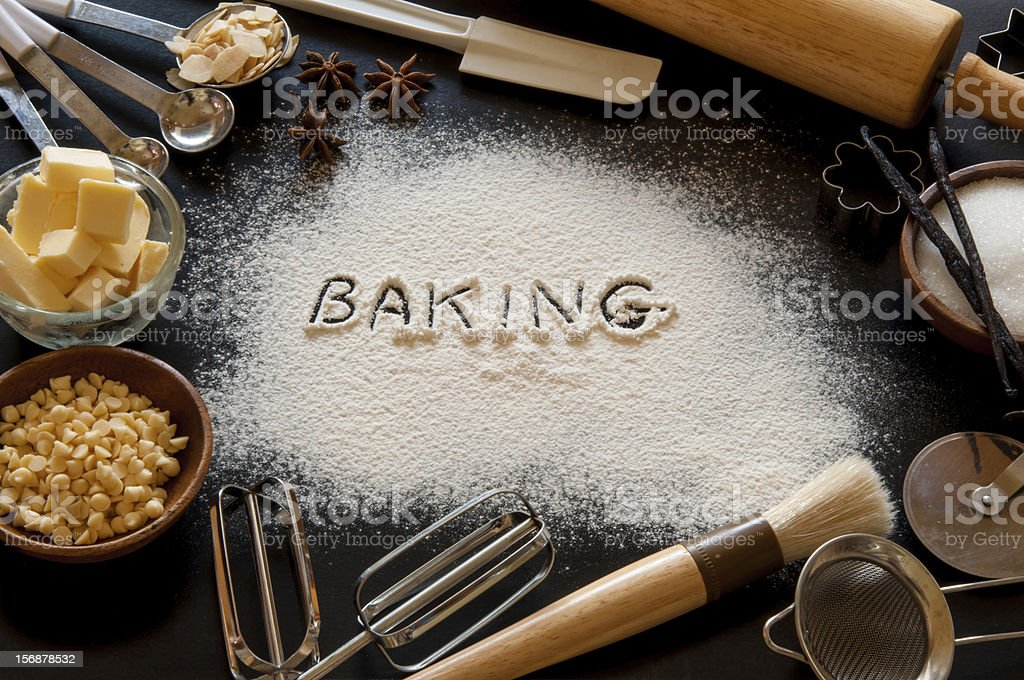 Baking ingredients royalty-free stock photo