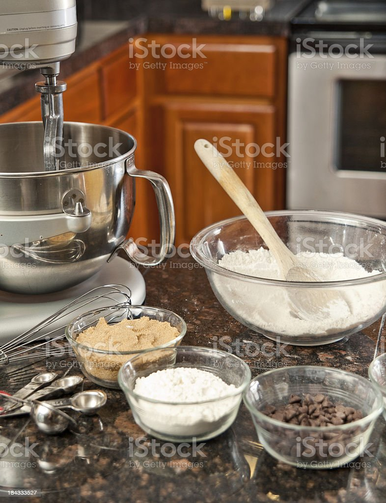 Baking items royalty-free stock photo