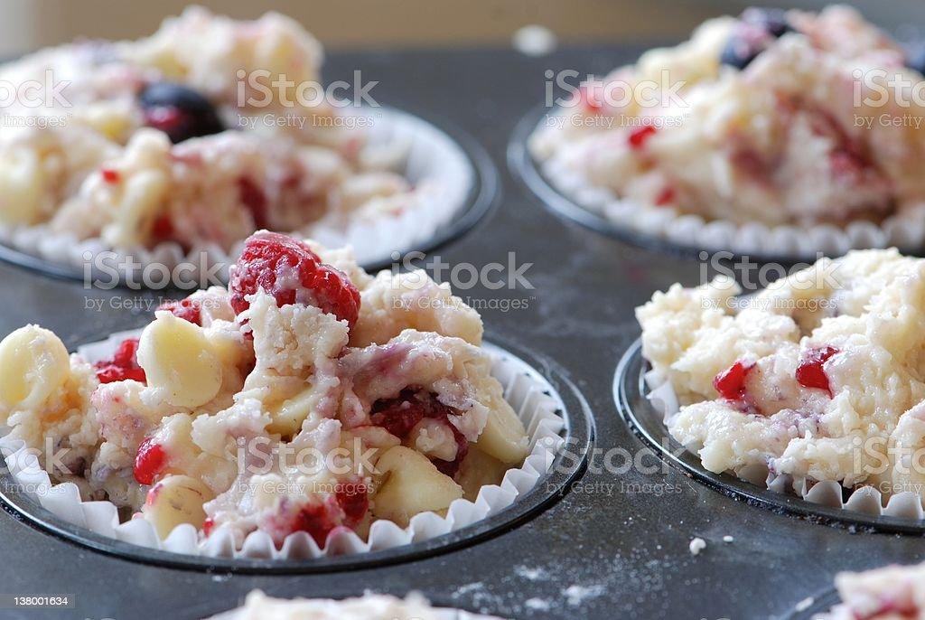 Baking muffins royalty-free stock photo