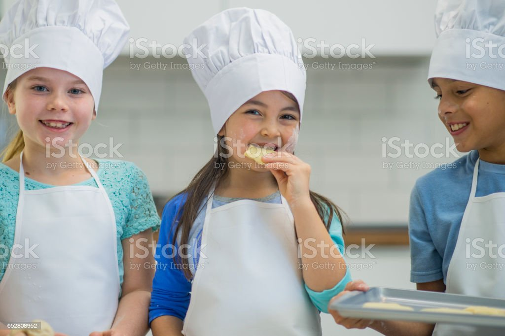 Baking on a Field Trip stock photo