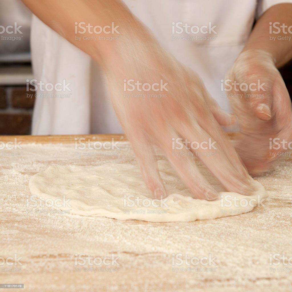 Baking Pizza royalty-free stock photo