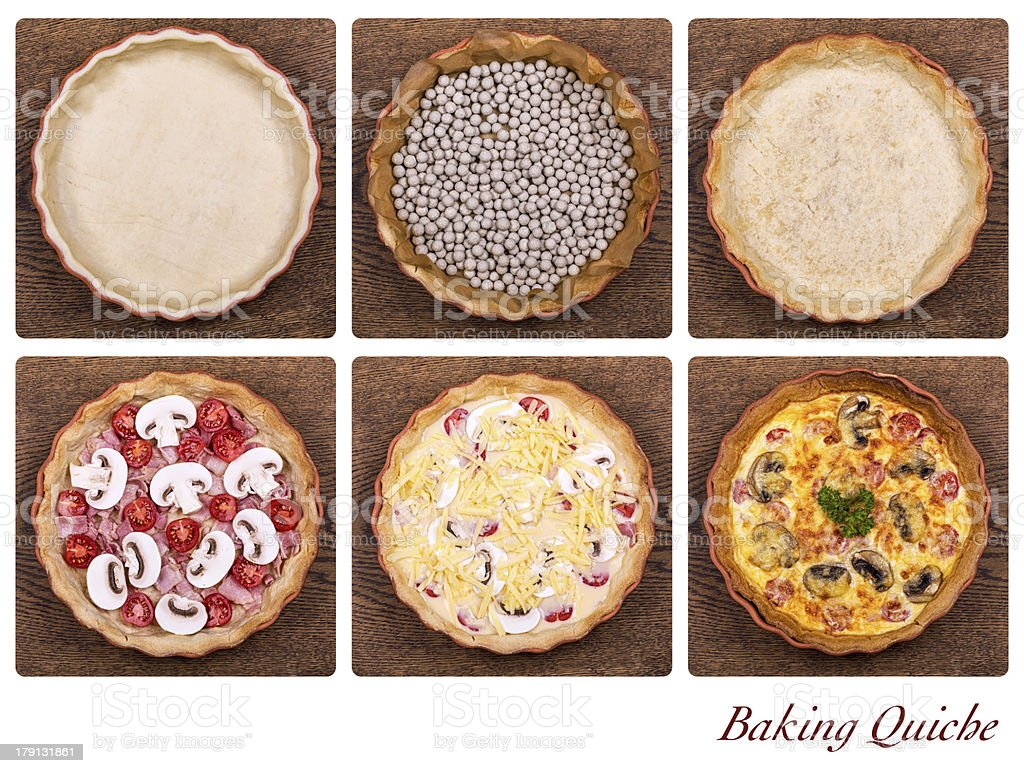 Baking quiche royalty-free stock photo