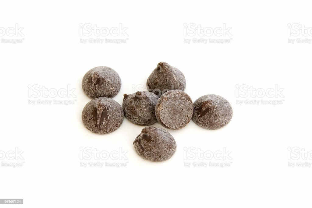 Baking semi-sweet chocolate chips/morsels royalty-free stock photo
