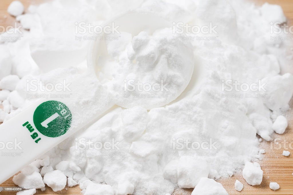 Baking Soda and Measuring Spoon stock photo