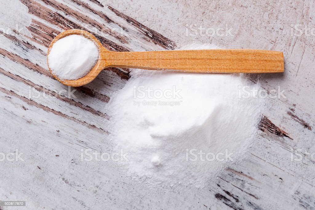 Baking soda. stock photo