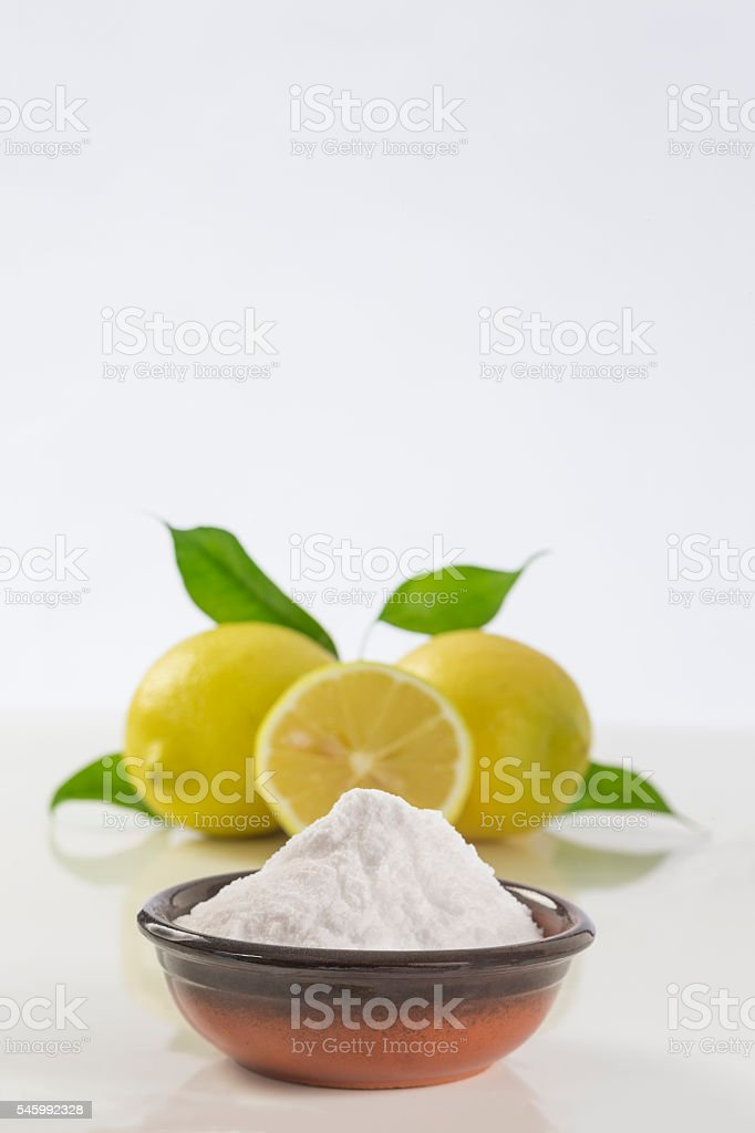 baking soda sodium bicarbonate Medicinal and household Uses stock photo