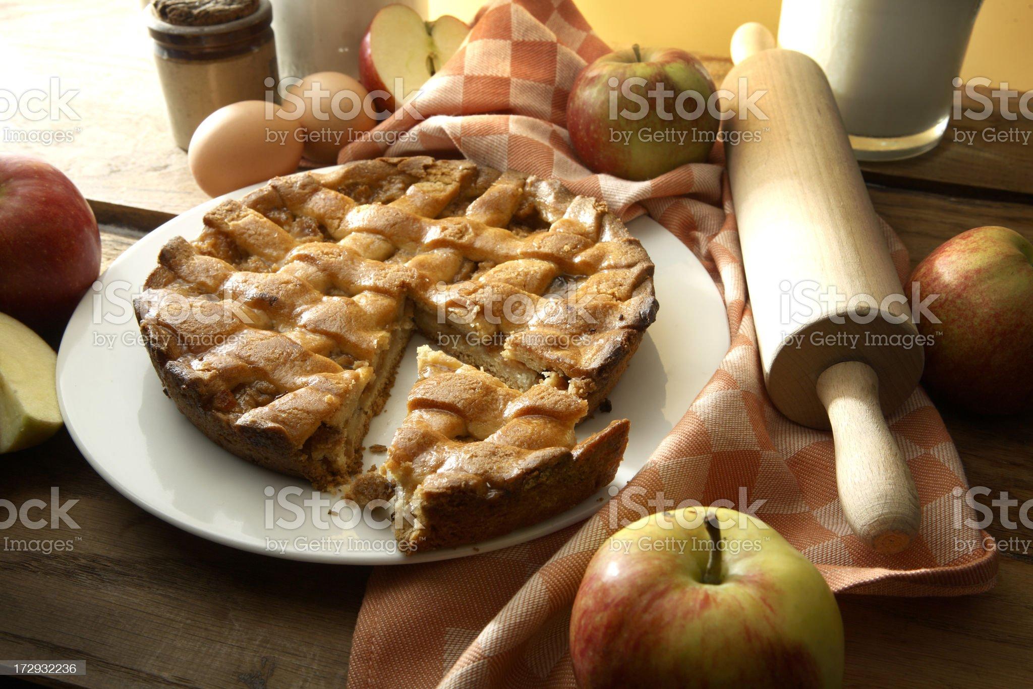 Baking Stills: Apple Pie royalty-free stock photo