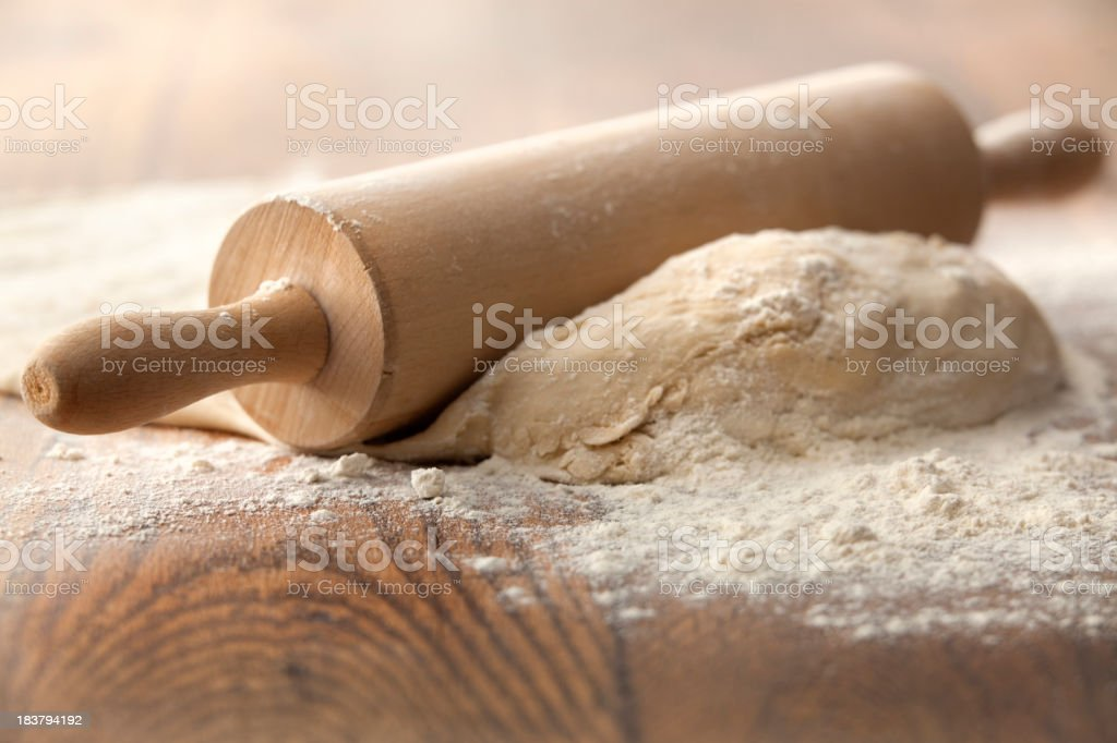 Baking Stills: Dough and Rolling Pin royalty-free stock photo