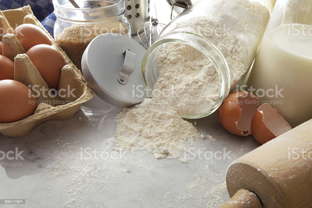 Baking Stills: Ingredients royalty-free stock photo