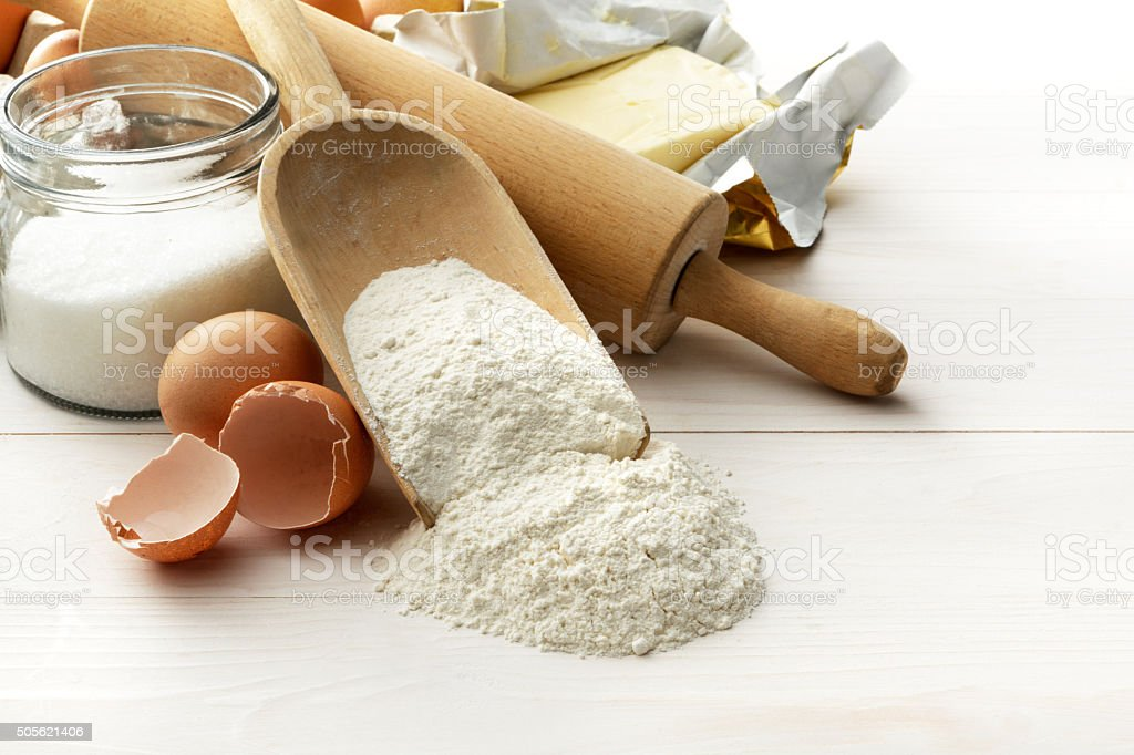 Baking Stills: Ingredients stock photo