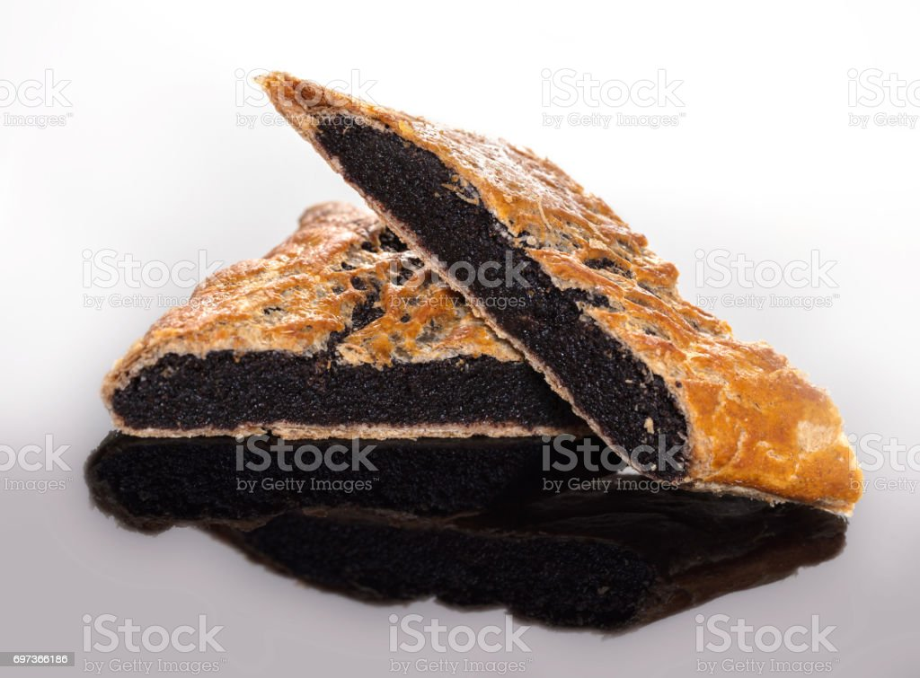 Baking, strudel with poppy seeds stock photo