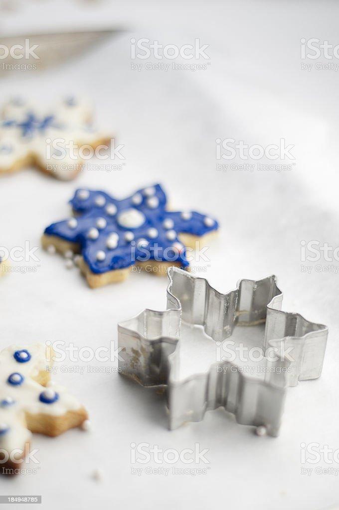 Baking Sugar Cookies royalty-free stock photo