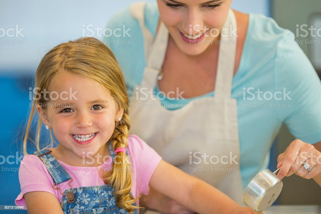 Baking Together on Mother's Day stock photo