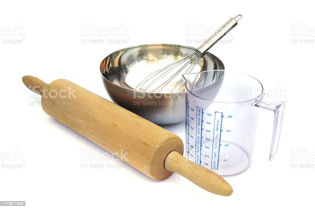 Baking tools stock photo