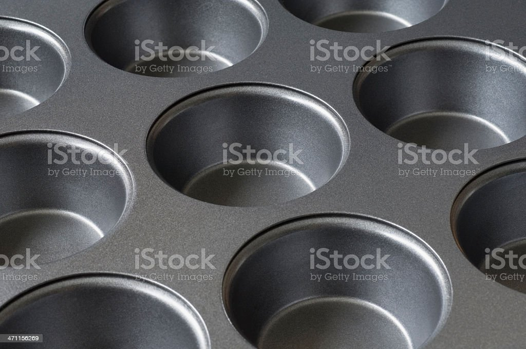 Baking tray for muffins royalty-free stock photo