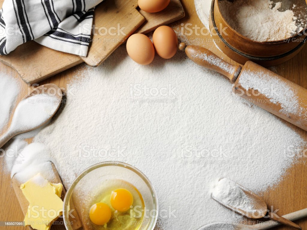 Baking with Copy Space stock photo