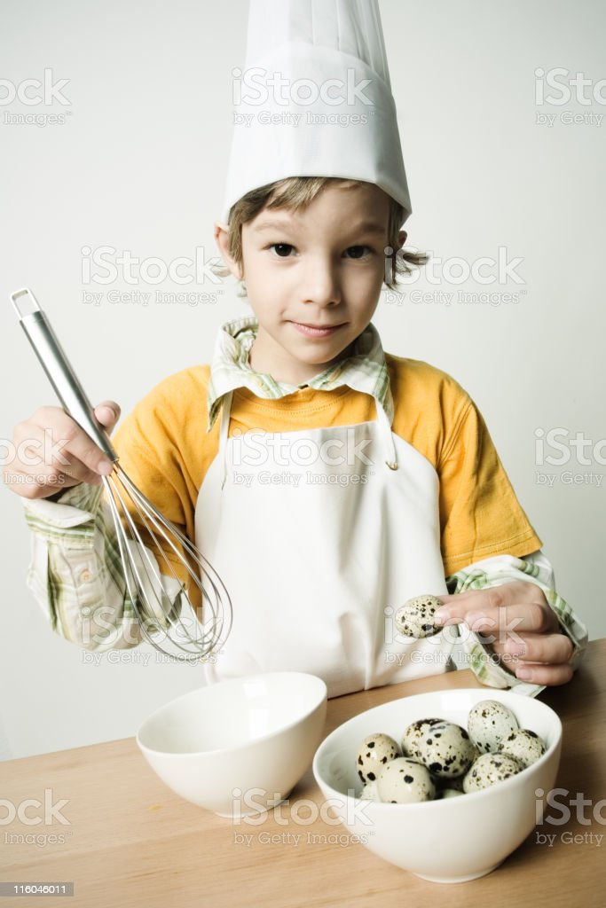 Baking with eggs stock photo