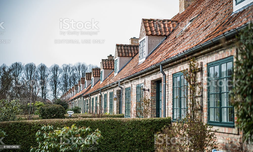 Bakkehusene - the Hill Houses - Copenhagen, Denmark stock photo