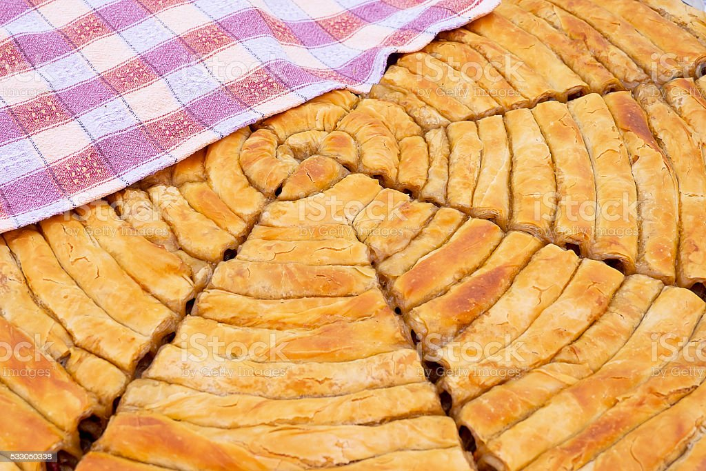 Baklava is a Middle-Eastern dessert. It is a rich, stock photo