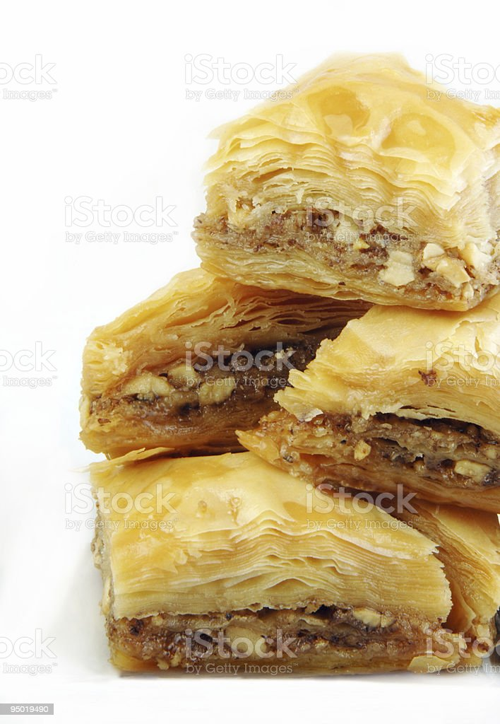 Baklava on White stock photo