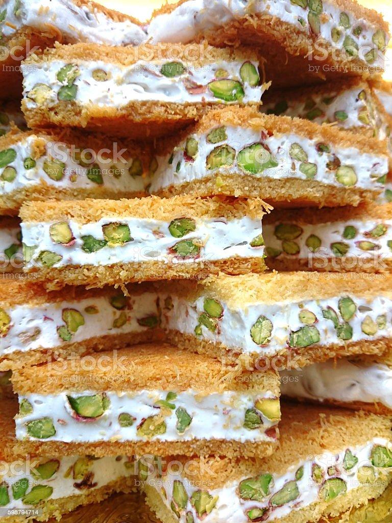Baklava with pistachio stock photo
