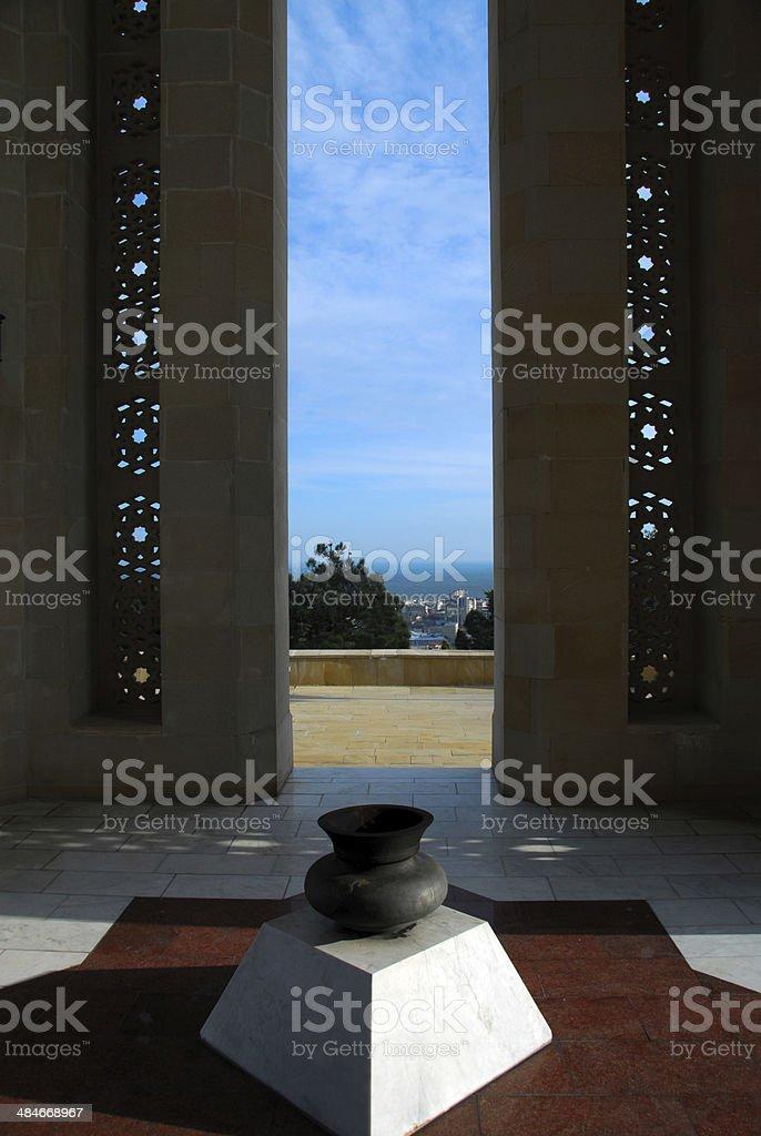 Baku, Azerbaijan: Martyrs' monument royalty-free stock photo