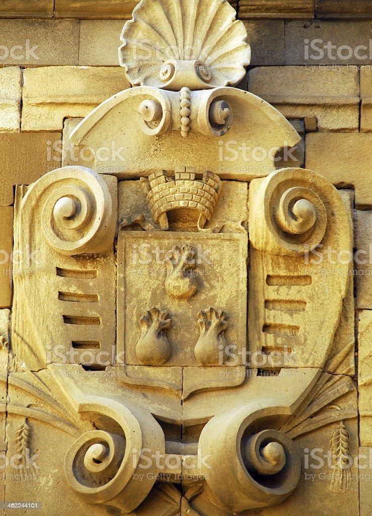 Baku coat of arms stock photo