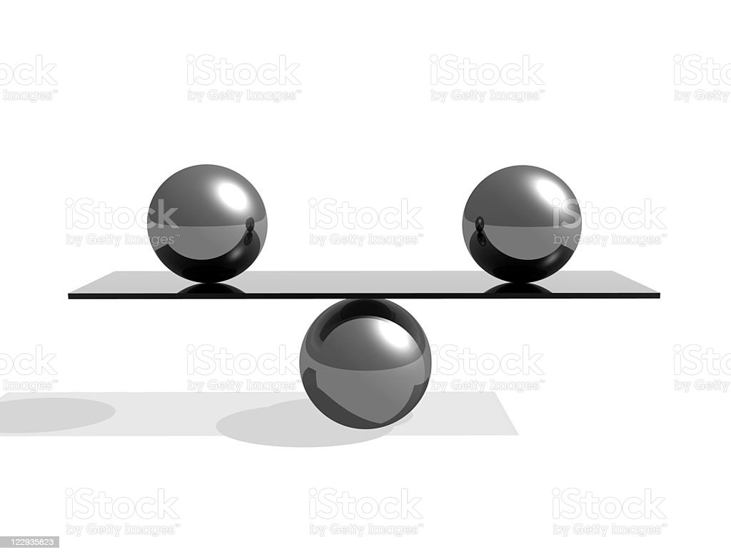 balance 3d abstract illustration royalty-free stock photo
