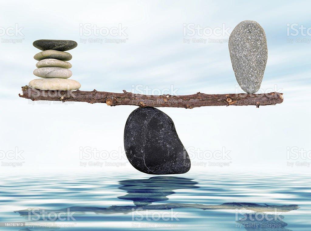balance and harmony stock photo