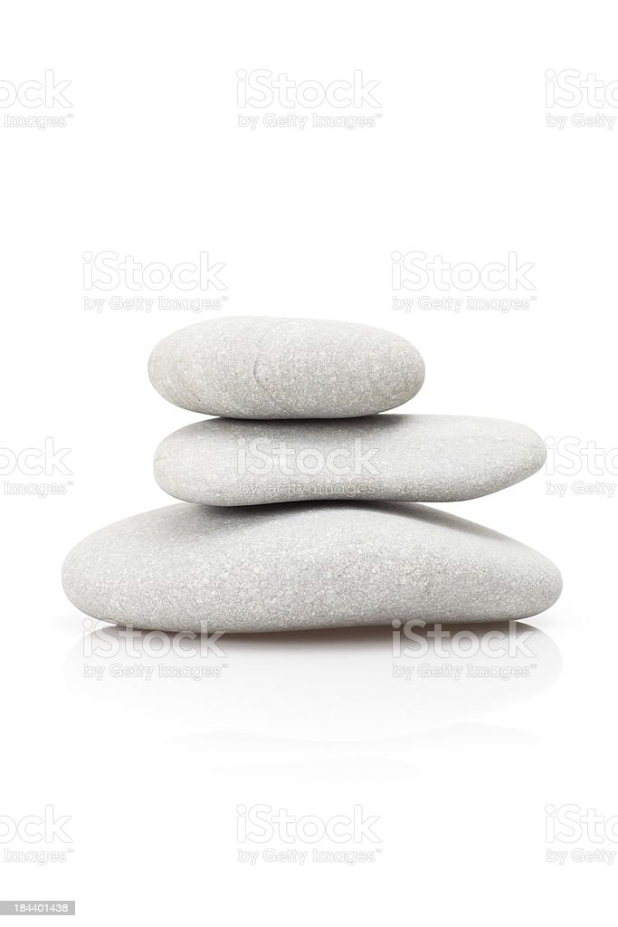 Balance and pebbles stock photo