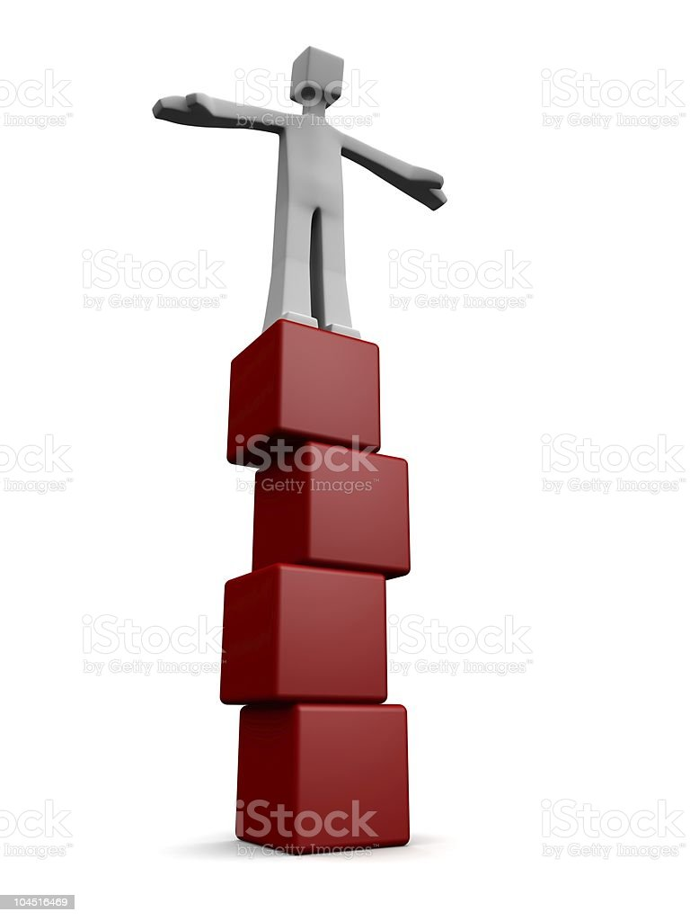 Balance and stable growing succes concept royalty-free stock photo