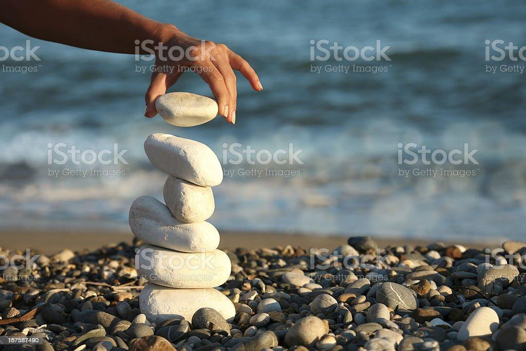 balance and woman royalty-free stock photo