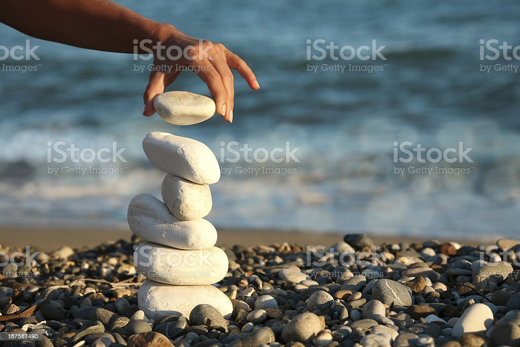 balance and woman stock photo