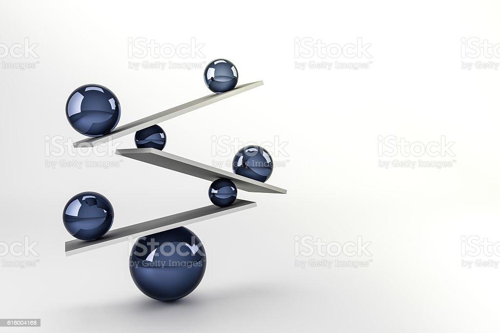 balance ball stock photo