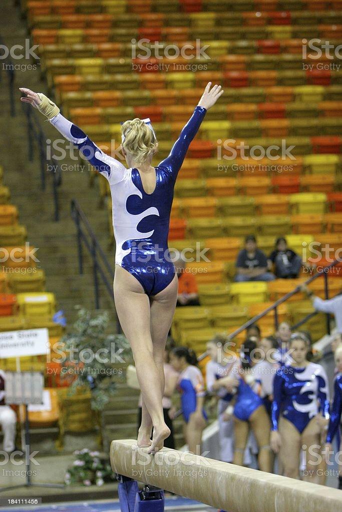 Balance Beam Gymnastics stock photo