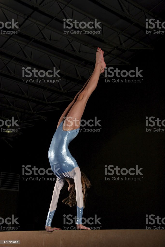Balance Beam Handstand royalty-free stock photo