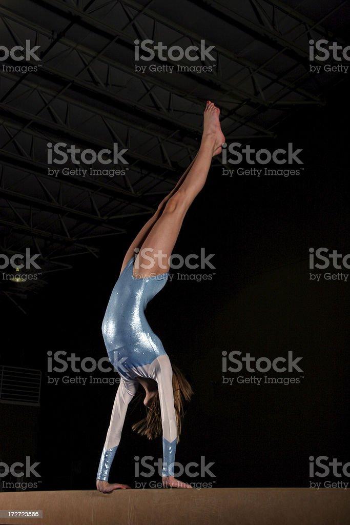 Balance Beam Handstand stock photo