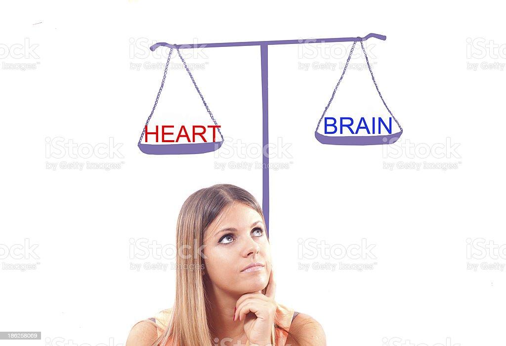 balance between  brain and heart royalty-free stock photo