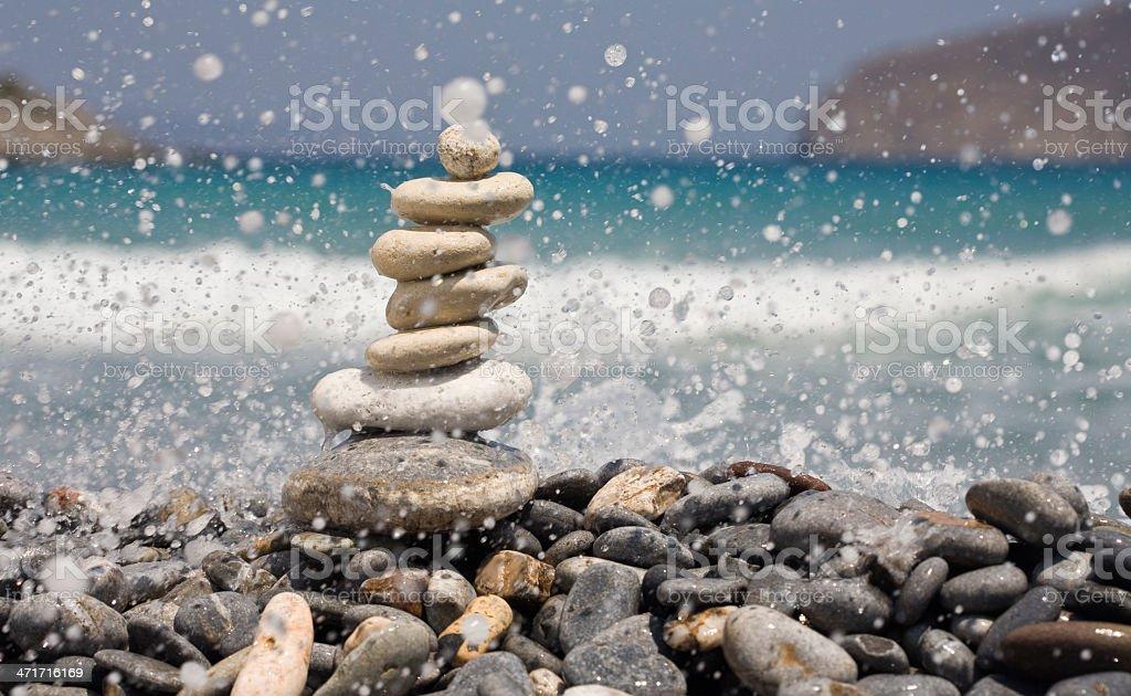 balance between water drops royalty-free stock photo